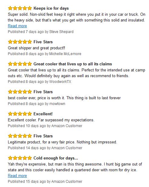 YETI Tundra cooler reviews